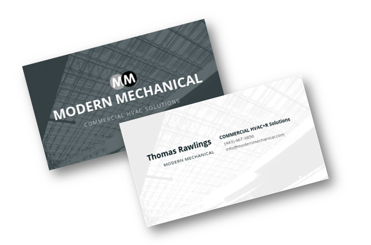 hvac trade contractor print services business cards