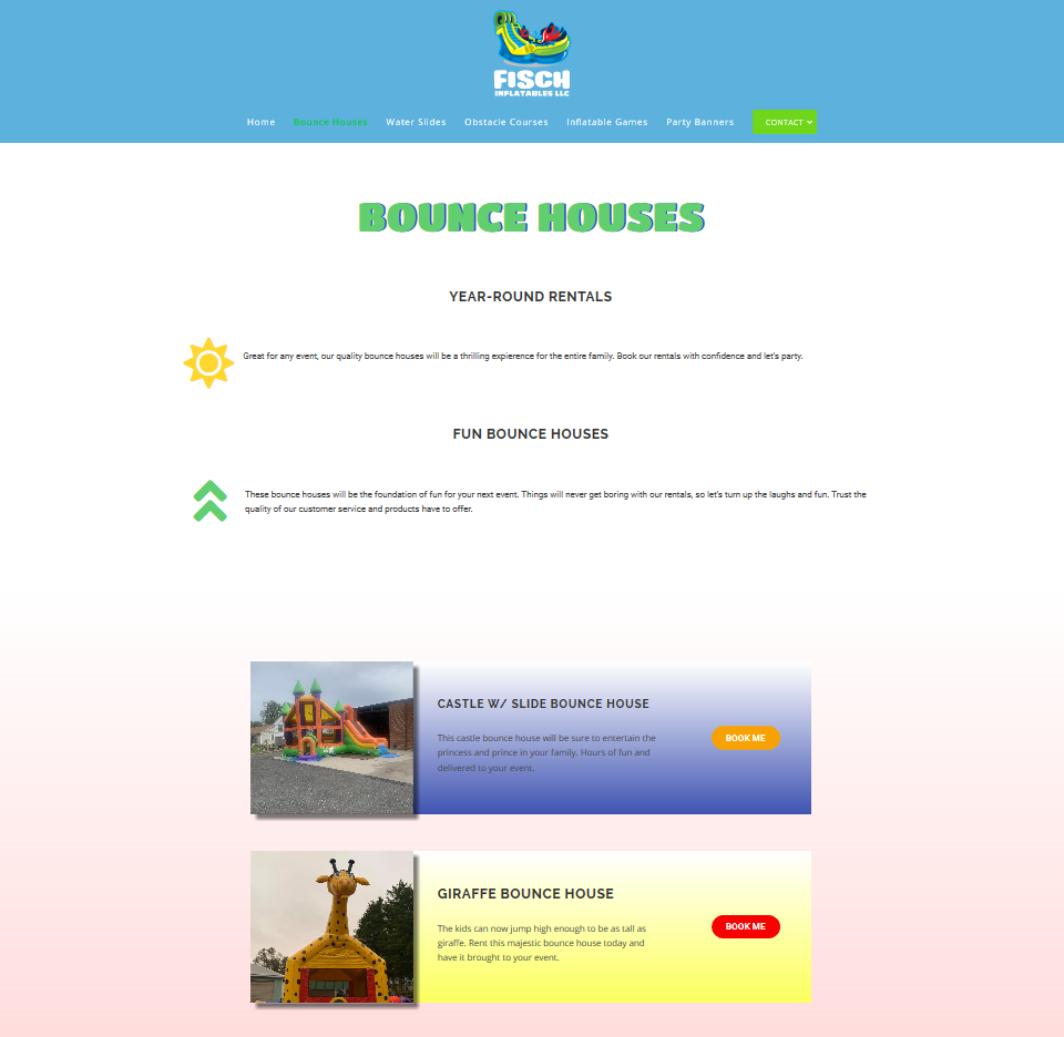 custom web page bounce house rentals southern maryland
