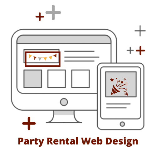 party rental web design graphic