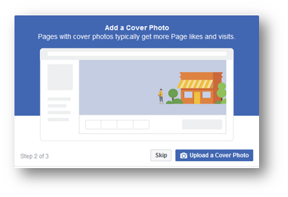 add a cover photo for fb business page