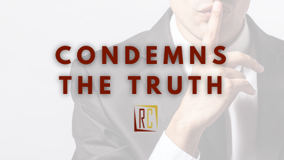 Fear in the workplace condemns the truth