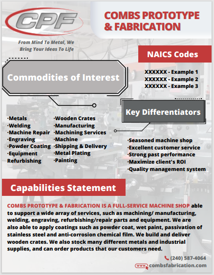capabilities statement after