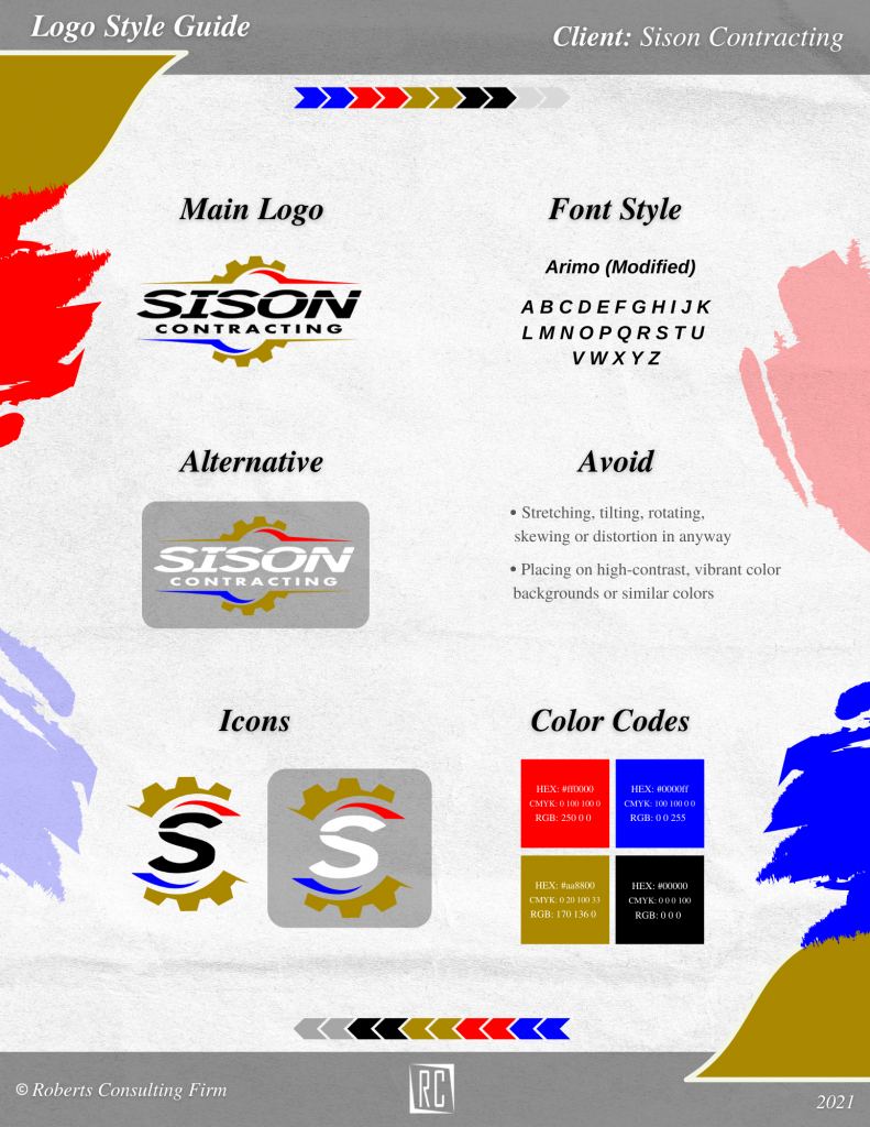 logo style guide example